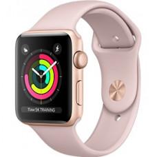 Apple Watch Series 3 корпус из золотистого алюминия, спортивный ремешок цвета «розовый песок» 38 мм