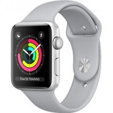 Apple Watch Series 3 корпус из серебристого алюминия, спортивный ремешок дымчатого цвета 38 мм