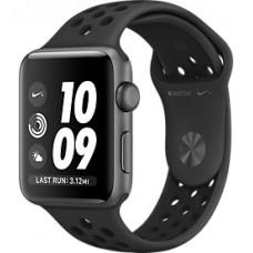 Apple Watch Nike+ Корпус из алюминия цвета «серый космос», спортивный ремешок Nike цвета «антрацитовый/чёрный» 38 мм