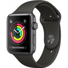 Apple Watch Series 3 корпус из алюминия цвета «серый космос», спортивный ремешок серого цвета 38 мм