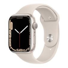 Apple Watch S7, 41 mm, Корпус из алюминия цвета «сияющая звезда», спортивный ремешок цвета «сияющая звезда»
