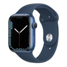 Apple Watch S7, 41 mm, Корпус из алюминия синего цвета, спортивный ремешок «Тёмный ультрамарин»